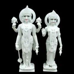 White Marble Laxmi Vishnu Statue