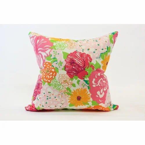 Fl Print Cotton Cushion