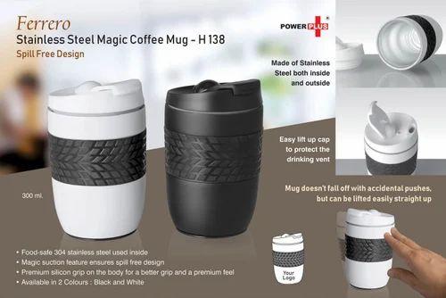 ca6363eb58a Customized Coffee Mug - Ferrero Stainless Steel Magic Coffee Mug (300 ml)  (Spill Free Design) Chipkoo Manufacturer from New Delhi