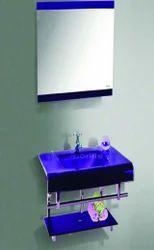 Glass Bathroom Vanity Set