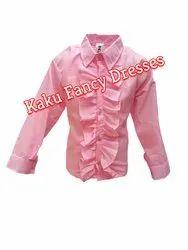 Kids Pink Frilly Shirt