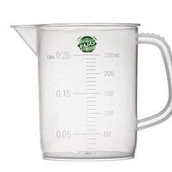 Rajas Measuring Jar, Euro Design Polypropylene