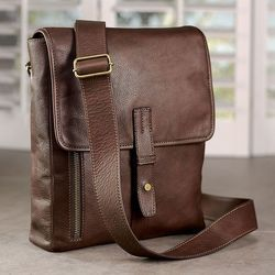 Leather Brown Side Bag