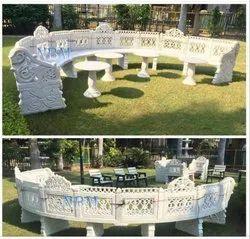 Huge Curved Garden Sofa Set
