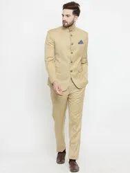 Beige Plain Mens Designer Jodhpuri