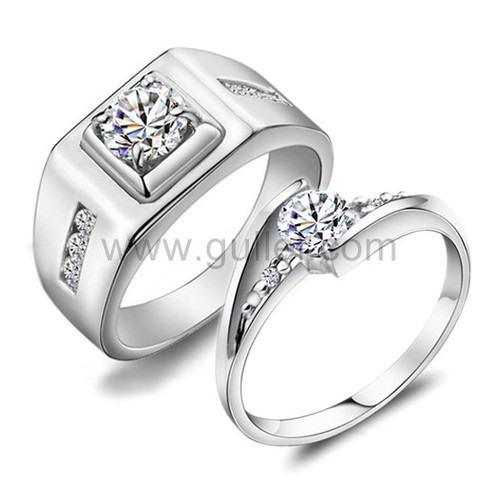 Wedding Ring Set For Male And Female Zevrr 92 5 Swarovski