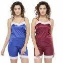 Satin Lace Camisole & Short Sleepwear Nightwear Lounge Sets