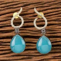 Black Plated Designer Classic Earring 405530
