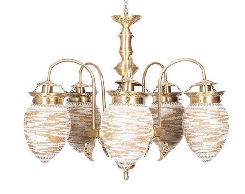 Mosaic Bead Oval 5 Light Chandelier, Jhumar, chandelier lighting ...
