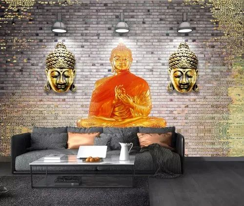 3D Decorative Abstract Buddha Wallpapers, For Home Decor