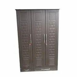 Wooden Brown 3 Door Almirah, For Office