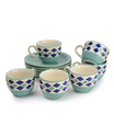 Style My Way Ceramic Hand- Painted Tea & Coffee Set