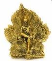 Bharat Handicrafts Gold Plated Sai Baba in Leaf Statue
