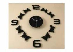 Aerina Black 20-24 Inch Designer Decorative Wall Clock