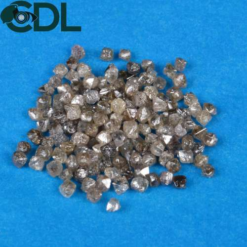 89da838a7 Octahedron Shape Natural Rough Diamond, Dark Brown, Size 1.80mm to 4.30mm