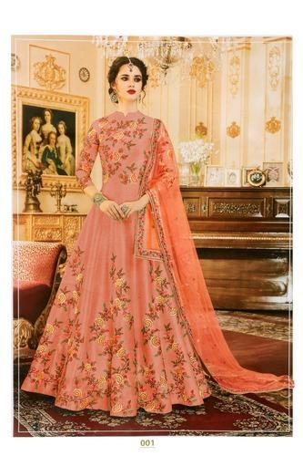 ae2820d72c1 Semi-Stitched Embroidered Anarkali Dress
