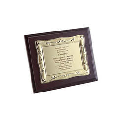 Wood with Plaque