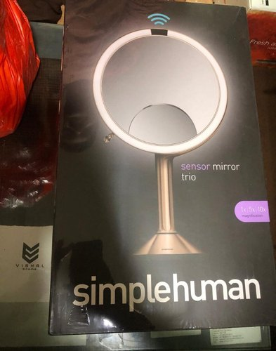 Simplehuman Sensor Lighted Makeup Vanity Mirror Pro 8 Round 5x 10x Dual Magnification Rose Gold At Rs 58000 Piece Mirror Lights Id 21754572512