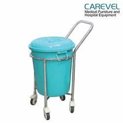 Soiled Linen Trolley Plastic Bucket