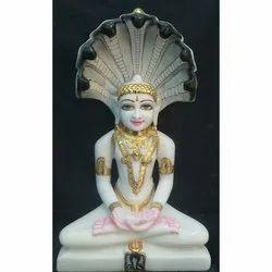 White Marble Jain Parshwanath Statue