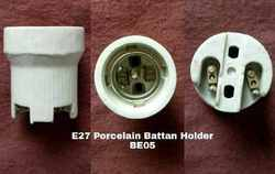 Porcelain E27 Batten Type Lamp Holder BE05