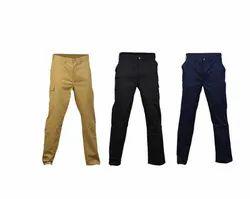 Flat Trousers Plain Lindstrom Men Twill 65Pes Khaki Trouser