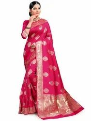 Classy Art Silk Saree With Blouse Piece By Parvati Fabric (21862)