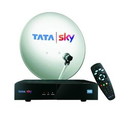 Hdmi Plastic Tata Sky HD DTH Set Top Box Connection With 1 Year Subscription