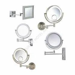 Metallic Metal Silver Shaving Mirror, Size: 8-10 Inch