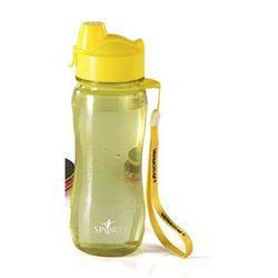Varmora Sporty Flip Top Plastic Water Bottle, 500ml, Yellow