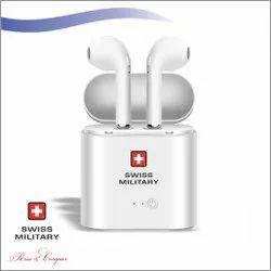 Swiss Military Wireless Earbud White (HPH1)