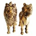 Brass Lion with Pair Set