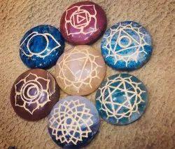 Seven Chakra Reiki Healing Stone