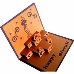 Premium Craft Paper 3D Popup Festival Greeting Card