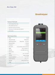 Alcohol Breath Analyzers with Inbuilt Printer-A 50