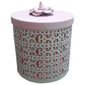 """Sanghavi Exports Pink Gifts And Packing Baskets, Size: 6"""", Round"""