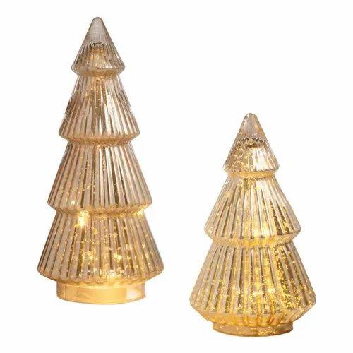 best cheap e5da7 380fa Silver Mercury Glass Tree Decor