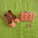 Punjabi Handmade Khussa Jutti with Matching Clutch