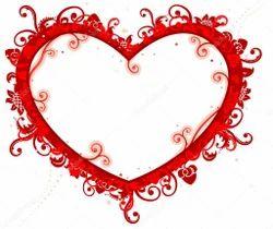 Wood Heart Photo Frame