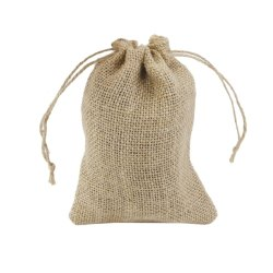 Jute Burlap Gift Bags for Weddings, Functions, Parties, Baby Showers, Birthdays, Festivals