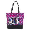 Blue Silver Taxi Tote Bag
