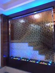 RGB Glass Curtain Water Fountain