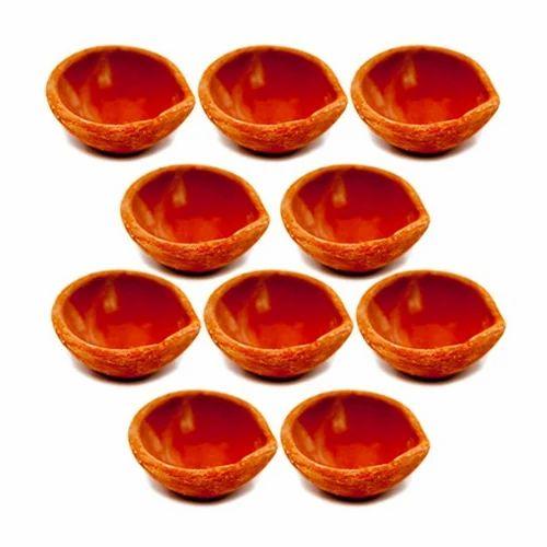 Plain Set Of 12 Diwali Clay Diya Clay Oil Lamp Mitti Diya Diwali Diya