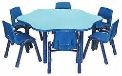 Hexagon Tabel Play School Furniture