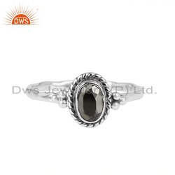 Oxidized 925 Silver Oxidized Pyrite Gemstone Ring Jewelry