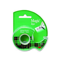 Plastic Magic Tape With Dispenser, For Shool, College & Office