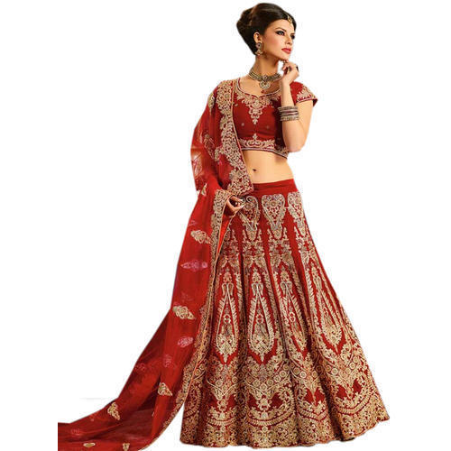 c893a3fa11 Net & Georgette Embroidery Designer Unstitched Wedding Lehenga, Rs ...