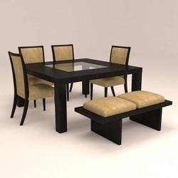 seater6 wooden dining set brown