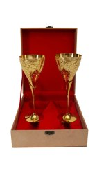 24 Ct Gold Plated Dual Wine Glass