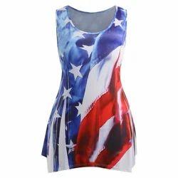 Plus Size American Flag Print Tank Top
